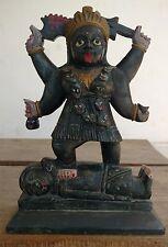 "11""  Tall Ma Kali Durga Carved Hindu Goddess Statue Figurine Religious Sculpture"