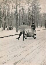 PARIS 1954 - Neige Ouvriers Charette Sablage au Bois de Boulogne - PR 762