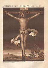 B0034 Durer - Cristo sulla Croce - Stampa Antica del 1901 - Antique print