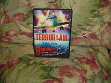 9 Movies: Terror in the Air (DVD, 2014, 2-Disc Set) Over 13 Hours