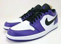 Nike Air Jordan 1 Low Court Purple 553558-500 Men's Size 12