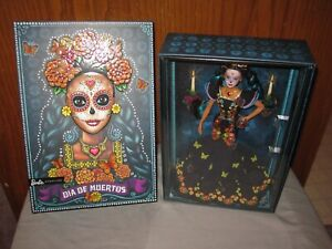 New! Mattel Barbie Doll Dia De Muertos  Black Gown Butterflies In Hand! 2019