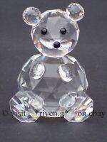 CRYSTAL TEDDY BEAR FIGURINE@PREMIUM CUTE AUSTRIAN CRYSTAL CUDDLY BEAR NURSERY