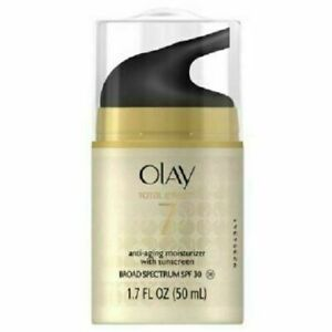 Olay Total Effects 7-in-1 Moisturizer SPF 30, 1.7 oz - Free Shipping - New