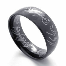 Unisex Men&Women's Stainless Steel Fashion Cryatal jewellery Lord of the Rings