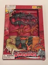 Realistic Prehistoric Dinosaurs with Accessories Play Set Animal World