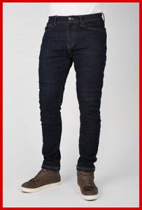 ~NWT Mens Bullit Bull-it SR6 Slim Motorcycle Dark Blue Jeans (Italian) 30/32 31~