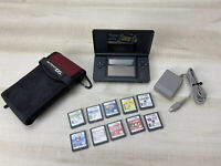 Nintendo Gameboy DS Lite Black with 10 games, Charger & oem case Working Great!