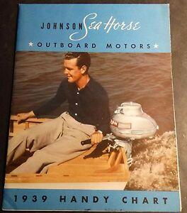 VINTAGE 1939 JOHNSON SEA HORSE OUTBOARD MOTOR SALES BROCHURE POSTER SIZE  (176)