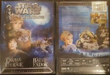 STAR WARS AN EWOK ADVENTURE; CARAVAN OF COURAGE & BATTLE FOR ENDOR BRAND NEW DVD