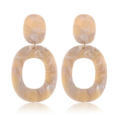 1 Pair Acrylic Tortoise Shell Earrings Resin Hoop Dangle Earrings for Women Gift