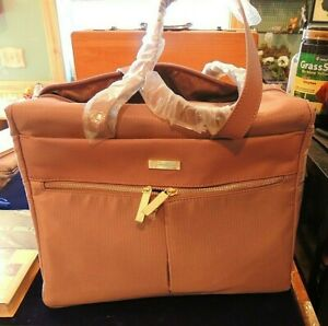 New Joy Mangano Travel carry-on bag 14 x 11 x 6.5 inch rose colored