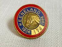 Vintage 1986 Keeneland Club Member Lapel Pin Horse Racing Breeders Cup #174 Rare