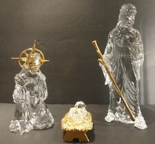 *EXCELLENT* Waterford Crystal MILLENNIUM NATIVITY (1999-2000) Holy Family 3 pc