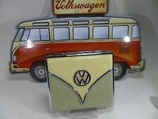 "Fine Polyflame Cigarette Case "" VW Samba "" - Green/Beige - Nip - 606527/C"