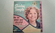 Rare Golden Record Songs From Shirley Temple Movies Good Ship Lollipop +