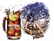 Captain Morgan Pirata Retrò Alluminio Metallo Vintage Sign Bar Pub Club Man Grotta