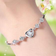 925 Silber Armband Kette Herz Strass Armkette AUSTRIAN CRYSTAL Zirkonia Stein