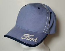 Ford Logo Hat Baseball Cap Light Blue Embroidered Cotton Paramount Apparel NICE!
