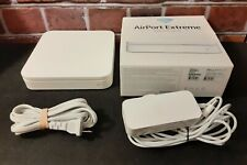 Apple AirPort Extreme 802.11n Wi-Fi Router, Model #A1143 w/Power Chords