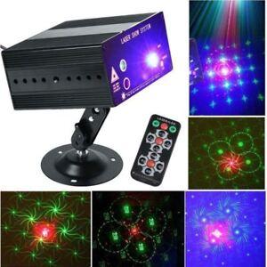 48 Pattern Laser Projector Stage Light Mini LED RGB Lighting Party Disco DJ KTV
