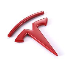Metal Side Emblem Red Logo Decal Badge Sticker Fit Tesla Model S X 3 P100D P90D
