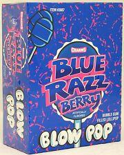 Charms Blow Pops Blue Raspberry Berry Suckers Candy Pop Bulk Lollipops 48 ct Box