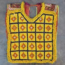 Kuchi Nomad Costume Banjara Bead Gypsy Afghan Choli Top Tribal Dress Yock Patch