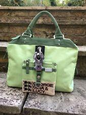 George Gina & Lucy Miss Perfect Pistachio Green Nylon Handbag Tote Bag Satchel