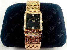 Elegant Vintage Gold Bulova C960187 Diamond Wrist Watch