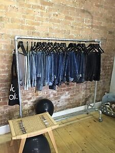 Industrial Clothes Rail on Wheels