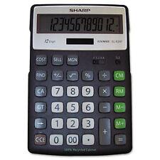 Sharp El-R297Bbk Recycled Series Calculator w/Kickstand 12-Digit Lcd Elr297Bbk