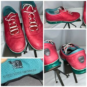 Ecco Gore-Tex Surround Golf Shoes Sz 8 Women Red Yak Leather Mint YGI H0S-223