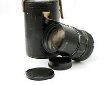 VTG Black PENTACON auto 2.8/135mm M42 screw mount lens Telephoto Portrait C09