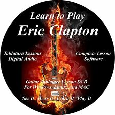 Eric Clapton Guitar TABS Lesson CD 218 Songs + Backing Tracks + BONUS!