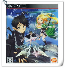 PS3 Sword Art Online SAO Lost Song Japanese SONY Action Games Bandai