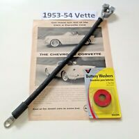 1 gauge cloth covered 1953 - 1954 Corvette reproduction positive battery cable