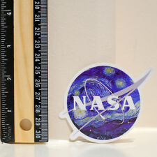 NASA badge starry night oil paint style van gogh glossy decal sticker #4313