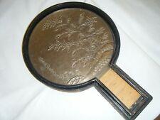 New ListingAntique Japanese Meiji Bronze Kagami Hand Mirror Signed w/ Original Wooden Case