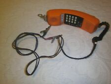 Vintage linemans phone Metro Tel MT-911G testing equipment belt clip and cables