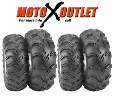 Yamaha Grizzly 700 Atv ITP Mud Lite Set of 4 Tires Front 25 8 12 Rear 25 10 12