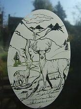 "Frosted glass look DEER Vinyl Window decoration 8""x12"" / 20x28cm"