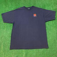 Mens Niagara Falls Canada Maple Leaf Embroidered Short Sleeve Shirt XL Blue