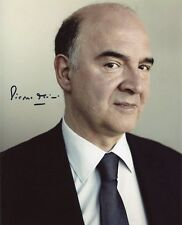 AUTOGRAPHE SUR PHOTO 20 x 25 de Pierre MOSCOVICI (signed in person)