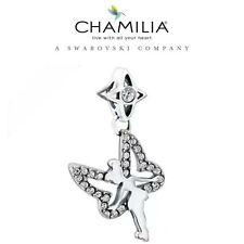 Retired Genuine CHAMILIA 925 Silver Disney Sparkling TINKERBELL Charm Bead