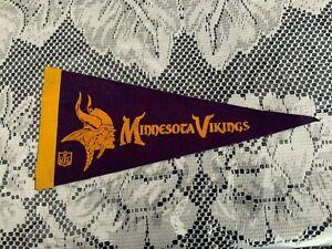 "Minnesota Vikings 1970's NFL Football Mini Pennant, 4"" x 9"" Inches,"