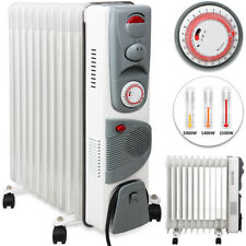 Ölradiator Öl Radiator Elektroheizung Heizer Heater 2500 Watt mit 24h Timer weiß
