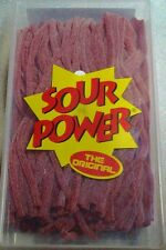 Sour Power Strawberry Candy Straws 200 count by Dorval