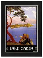 A4 LAMINATED - 1920's Lake Garda Italian Italy vintage travel posters