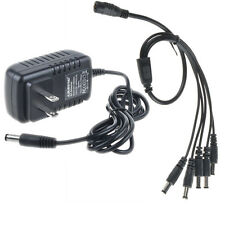 9V 2A Effect Pedal Power Supply Adapter US Plug+ 5 Way Daisy Chain Splitte Cable